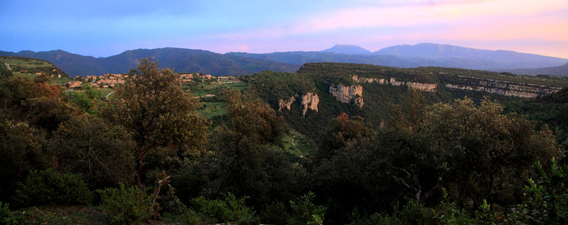 Tavertet, Catalunya, at sundown