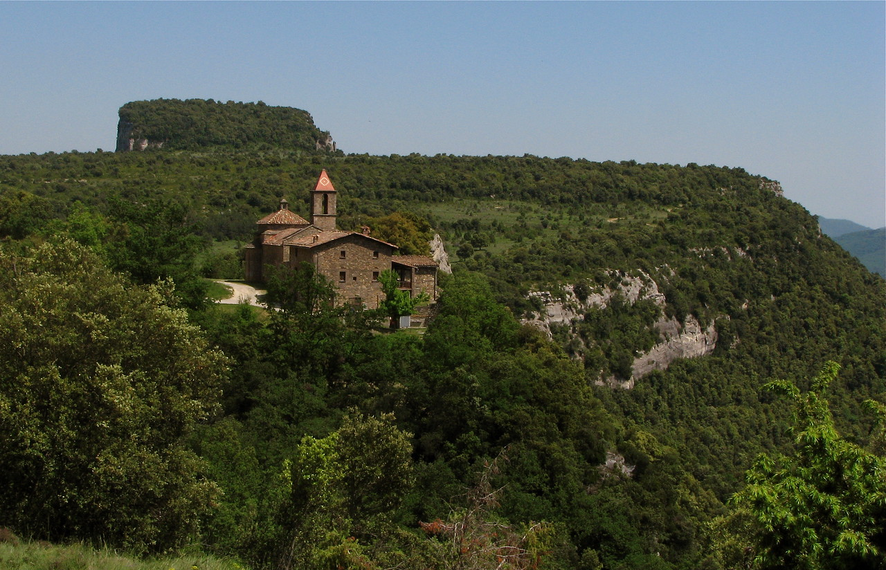 Old church in the hills south of Rupit, Catalonia, Spain