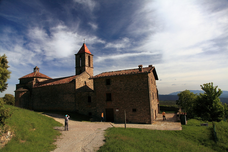 Monestir de Sant Joan de Fabregues, near Rupit, Spain.  This old church dates to 968 and sits in a most beautiful place.