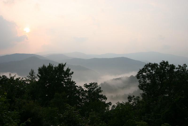 Smokey Mountains approaching the Cataloochee Preserve