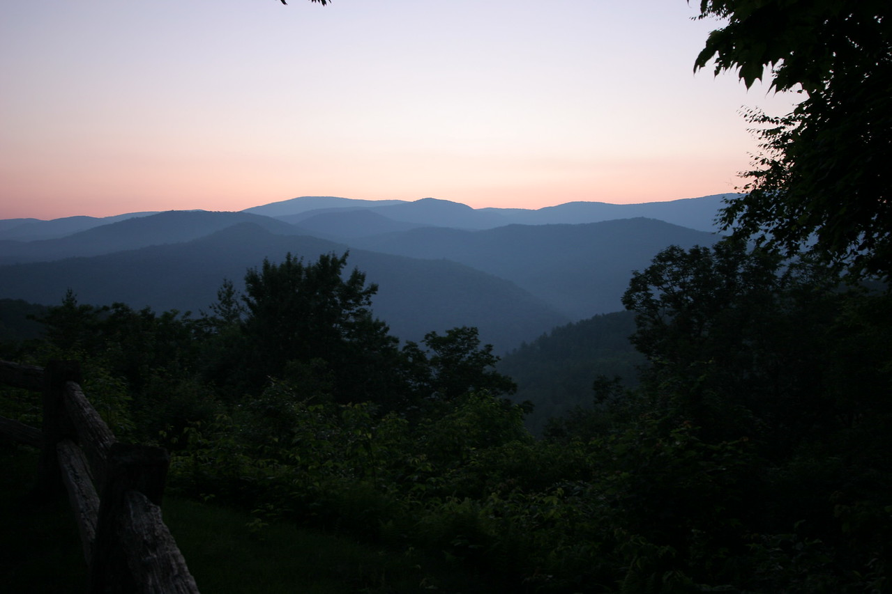 Cataloochee Preserve in Smoky Mountain National Park at sunset