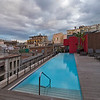The hotel's roof-top lap pool. Nice to look at, but it was mid December!