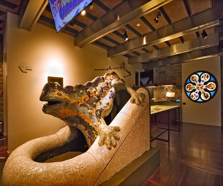 Replica of Gaudí's salamander at Park Güell.