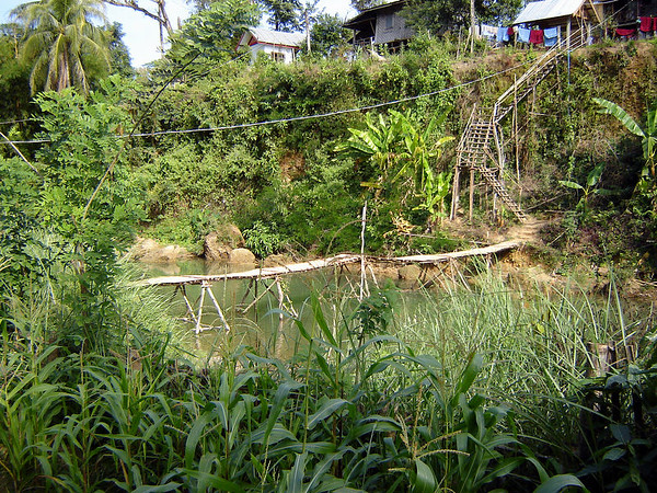View from bamboo hut that was our accomodation Ven Viang Laos - 4 Dec 2005