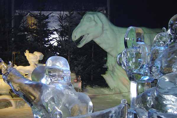 Ice sculpture show Lubeck Germany - 13 Jan 2006