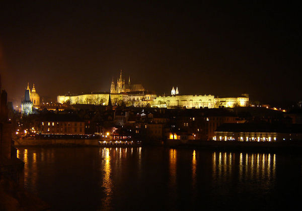 Prague Castle at night Prague