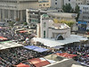 Friday market in Abdali bus station, taken from my room in the Toledo Hotel