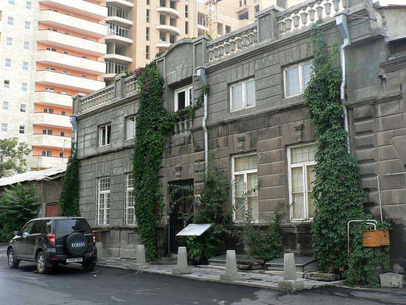 The Villa Delenda, my B&B in Yerevan. Built in 1906, it's now dwarfed by new developments.