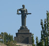 """Armenia's answer to """"Mother Georgia"""" - sword but no wine cup."""