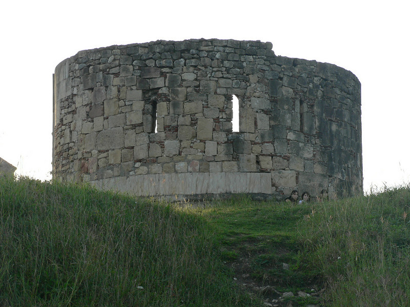 A remnant of the citadel, largely destroyed by the Russians in 1769 (fighting Turkish occupiers)