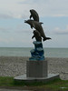 Batumi's Black Sea beach - reminding me of the North Sea