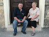 I found this couple while looking (unsuccessfully) for the town's synagogue - they insisted that I take their photo