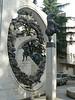 An interesting sculpture in Kutaisi town
