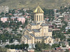 City view featuring Tbilisi's brand new religious symbol - the Tsminda Sameba (Holy Trinity) Cathedral