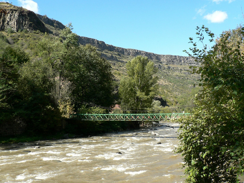 View from the rest stop on the road from Tbilisi to Vanadzor