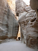 Horse cart in the Siq - they rattle past at high speed and look very uncomfortable