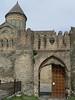 Fortress-like entrance to 11th century Svetitskhoveli Cathedral in Georgia's spiritual heart, Mtskheta