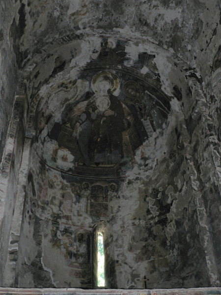 Inside Nekresi - an example of the need for restoration after Soviet rule