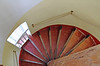 Spiral staircase at our B&B.