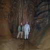 Larry and Vance with fantastic cave formations.