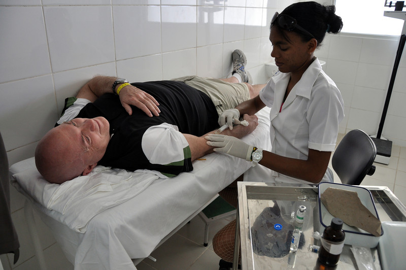 The international clinic for tourists in Santa Maria, Cuba