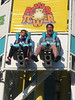Shawn and Mark on the Power Tower.  Not sure which one is the bigger kid!