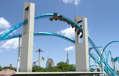 Artist rendering shows GateKeeper making its journey through one of two keyholes at the front of the park.