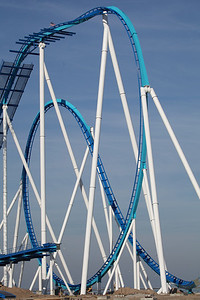 December 13, 2012: the Wing Over Drop and Immelmann feature of Cedar Point's GateKeeper are completed.