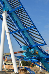 November 2012: Construction of 170 foot lift hill for GateKeeper, Cedar Point's first wing coaster.