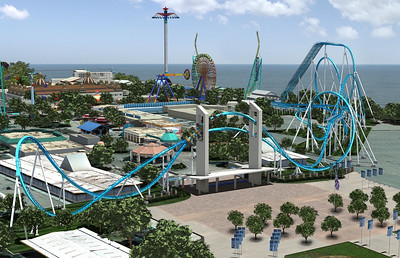 Artist rendering of Cedar Point's GateKeeper, set to open in May 2013.