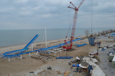 November 2012: An aerial view of GateKeeper, Cedar Point's first wing coaster.