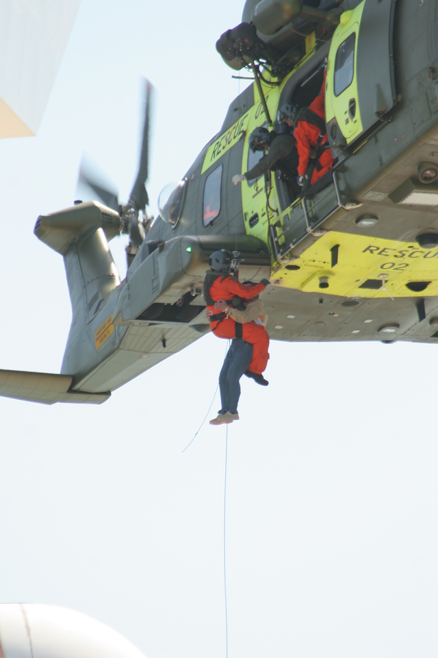 Cruise passenger being airlifted