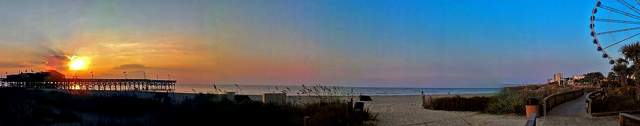 Cell Phone Photography Myrtle Beach at Dawn Panorama