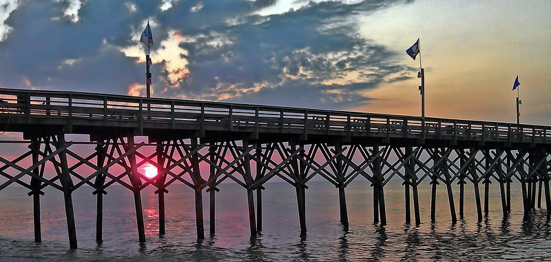 Cell Phone Photography Myrtle Beach Pier at Dawn First Light