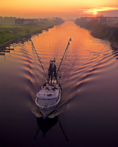 Cell Phone Photography Fishing Boat First Light
