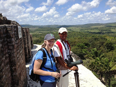 Laura and Carlos at Xunantunich