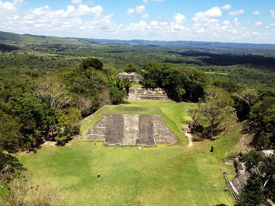 View from the top of Xunantunich