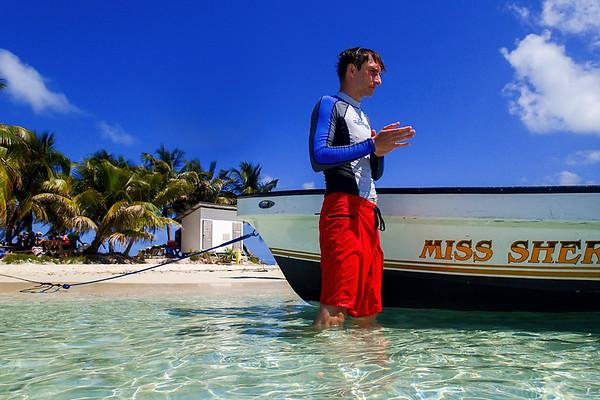 Silk Caye in Belize, Central America