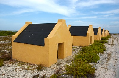 Huts for the slaves that worked the salt ponds.