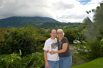 In front of the Arenal volcano