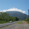 Volcan Arenal showing itself this morning after our hike to the waterfall.  12.19.2012