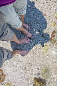 Our toes in the Costa Rican Pacific Ocean