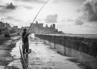 The Fisherman on the Malecon, Havana, Cuba