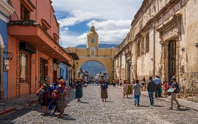 Calle del Arco, Antigua, Guatemala, 2020