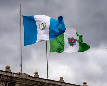 Flags of Guatemala and Antigua