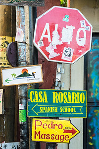 Signs in San Pedro, Guatemala