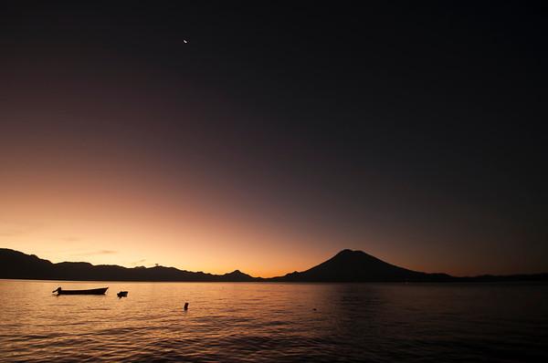 Lago Atitlan Sunrise, Guatemala