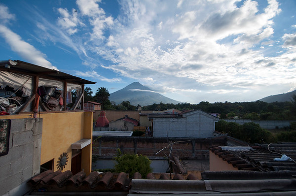 Volcano at the city's edge