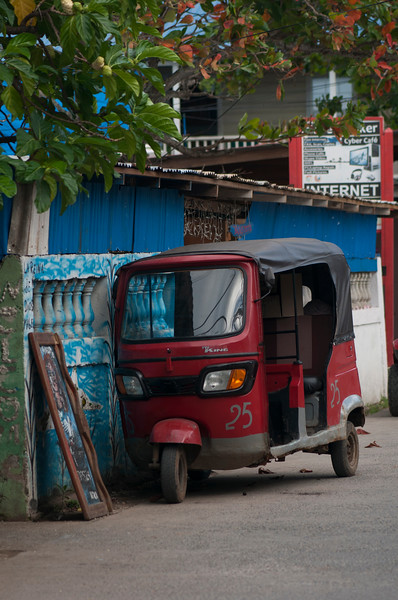 Tuk Tuk parked on street