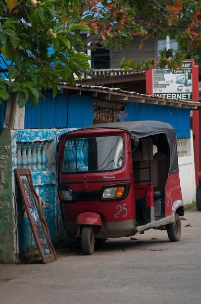 Tuk Tuk parked on street